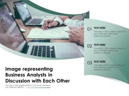 Image Representing Business Analysts In Discussion With Each Other