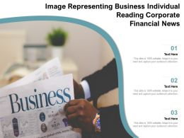 Image Representing Business Individual Reading Corporate Financial News