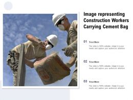 Image Representing Construction Workers Carrying Cement Bag