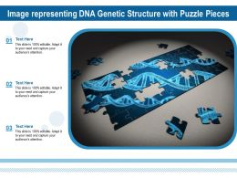 Image Representing DNA Genetic Structure With Puzzle Pieces