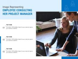 Image Representing Employee Consulting Her Project Manager