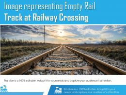 Image Representing Empty Rail Track At Railway Crossing