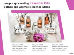 Image Representing Essential Oils Bottles And Aromatic Incense Sticks