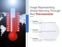 Image Representing Global Warming Through Red Thermometer