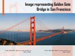 Image Representing Golden Gate Bridge In San Francisco