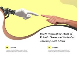 Image Representing Hand Of Robotic Device And Individual Touching Each Other