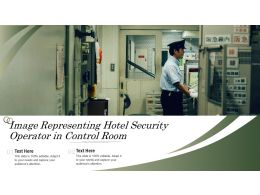 Image Representing Hotel Security Operator In Control Room