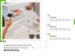 Image Representing Individual Making Payment Through Mobile Banking