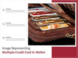 Image Representing Multiple Credit Card In Wallet
