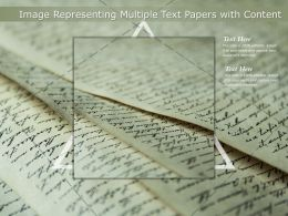 Image Representing Multiple Text Papers With Content