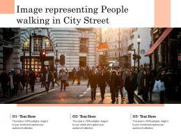Image Representing People Walking In City Street