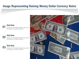Image Representing Raining Money Dollar Currency Notes
