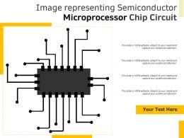 Image Representing Semiconductor Microprocessor Chip Circuit
