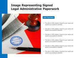 Image Representing Signed Legal Administrative Paperwork