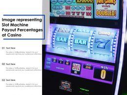 Image Representing Slot Machine Payout Percentages At Casino