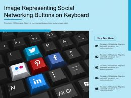 Image Representing Social Networking Buttons On Keyboard