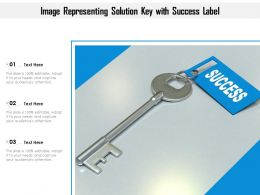 Image Representing Solution Key With Success Label