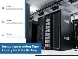 Image Representing Tape Library For Data Backup