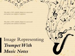 Image Representing Trumpet With Music Notes