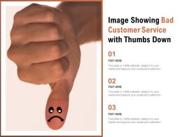 Image Showing Bad Customer Service With Thumbs Down