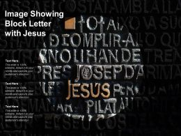 Image Showing Block Letter With Jesus
