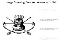 Image Showing Bow And Arrow With Hat
