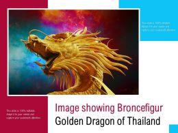 Image Showing Broncefigur Golden Dragon Of Thailand