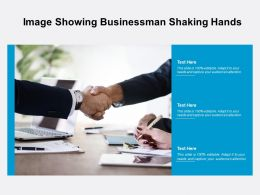 Image Showing Businessman Shaking Hands