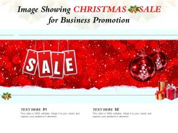 Image Showing Christmas Sale For Business Promotion