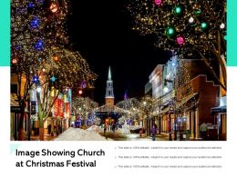 Image Showing Church At Christmas Festival
