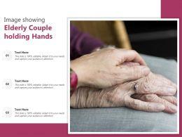 Image Showing Elderly Couple Holding Hands
