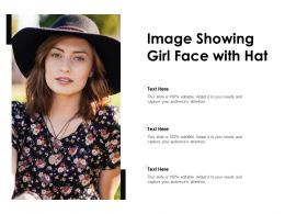 Image Showing Girl Face With Hat