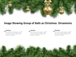 Image Showing Group Of Balls As Christmas Ornaments