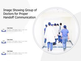Image Showing Group Of Doctors For Proper Handoff Communication