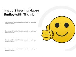 Image Showing Happy Smiley With Thumb