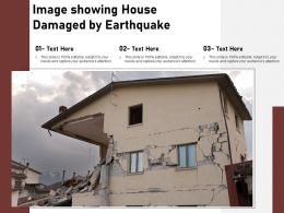 Image Showing House Damaged By Earthquake
