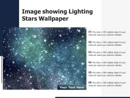 Image Showing Lighting Stars Wallpaper