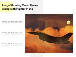 Image Showing Moon Theme Along With Fighter Plane