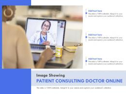 Image Showing Patient Consulting Doctor Online