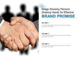 Image Showing Persons Shaking Hands For Effective Brand Promise