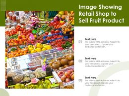 Image Showing Retail Shop To Sell Fruit Product