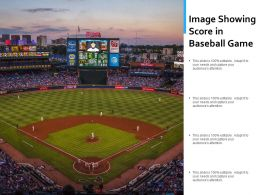 Image Showing Score In Baseball Game