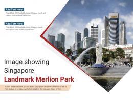 Image Showing Singapore Landmark Merlion Park Powerpoint Presentation Ppt Template