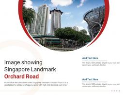 Image Showing Singapore Landmark Orchard Road Powerpoint Presentation Ppt Template