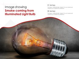 Image Showing Smoke Coming From Illuminated Light Bulb