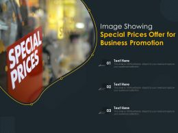 Image Showing Special Prices Offer For Business Promotion
