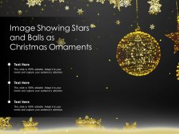 Image Showing Stars And Balls As Christmas Ornaments