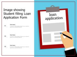 Image Showing Student Filling Loan Application Form