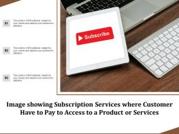 Image Showing Subscription Services Where Customer Have To Pay To Access To A Product Or Services