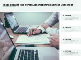 Image Showing Two Person Accomplishing Business Challenges